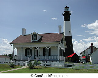 Lighthouse - Tybee Island lighthouse photographed at Tybee...