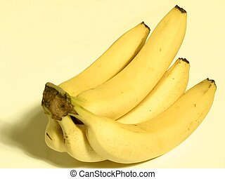 Banana Bunch - Bunch of bananas on yellow