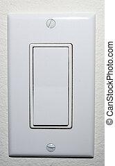 Wall Light Switch - white toggle light switch