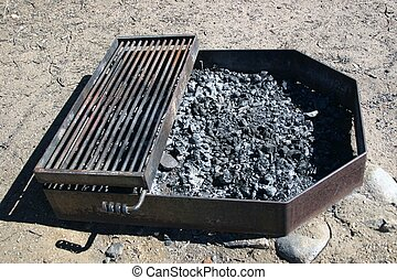 Fire Pit - Metal fire pits in camping areas help to prevent...