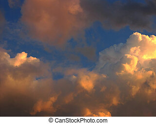After the storm - pictur of clouds with painteffect