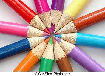 färgad, Blyertspenna