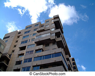 Block House - This is a image of a residential block of...