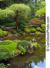 Japanese Gardens - Main pond at the Japanese Gardens in...