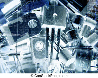 Electronic parts - Illustration with electronic parts