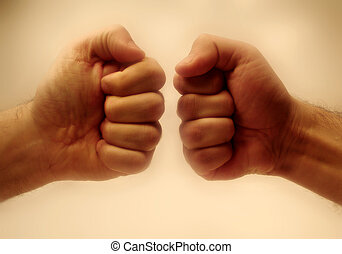 Fight. - Two fists.