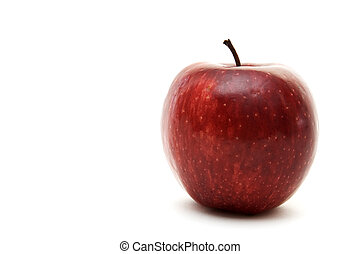 Red Apple 3 - A red apple is isolated on a white background