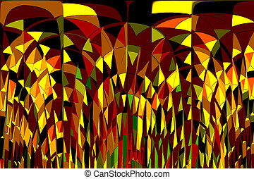 Stress - Digital abstract with many different colours and...