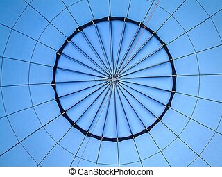 centre - Inside of hot air ballooning.
