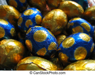 Easter egg - close-up easter eggs