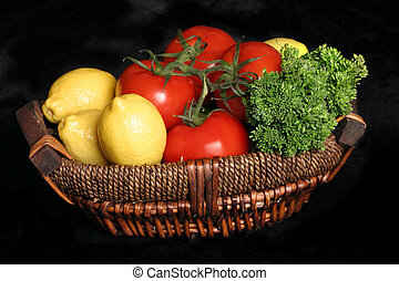 Garden Fresh - Fresh produce in a basket