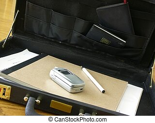 briefcase 2 - briefcase with work related stuff in it