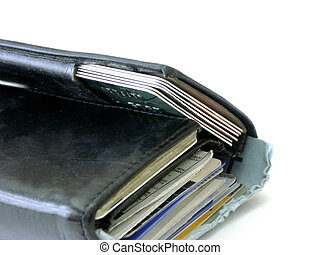 wallet - partial wallet focus on credit cards