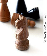 chess pieces #2 - chess pieces different view,shallow dof