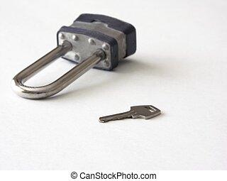 lock and key focus on key