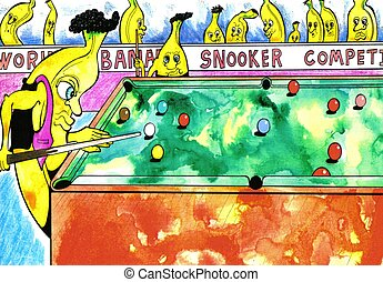 Banana Snooker - world snooker tournament for bananas