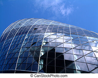 Gherkin 5 - This is a image of the modern building called...