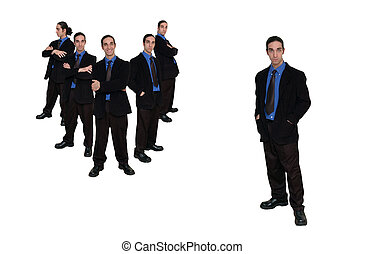 business team-9 - business team series on white issolated...