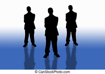 business team-20 - business team series on blue background