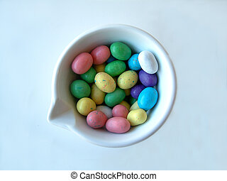 easter candy - Bunch of colourful easter candy.
