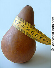 pear shaped - pear with measuring tape