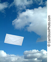 airmail - Letter in the air.