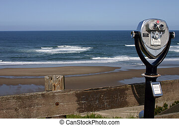 Ocean view with  binocular