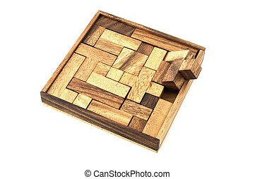Almost - A wooden puzzle is almost finished