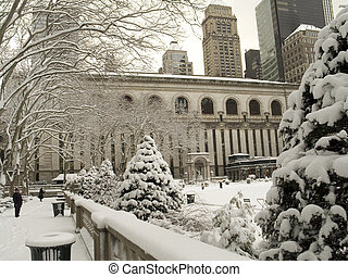 Bryant Park Winter - This is a shot of Bryant Park In...