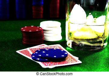 Card Game 7 - Poker Chips, Chips and a Drink. See Portfolio...