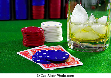 Card Game 6 - Poker Chips, Chips and a Drink. See Portfolio...