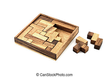 Almost Finished - A wooden puzzle is almost finished