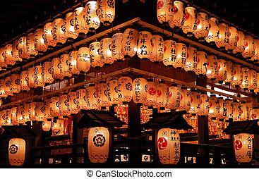 Light Invasion - impressive aspect of night paper lanterns...