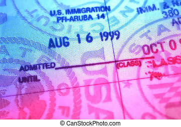 Immigration Stamp From Aruba