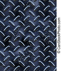 Black Diamondplate - Metal Diamond plate