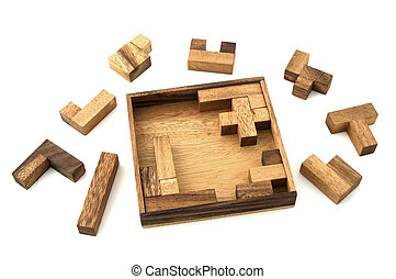 Jigsaw Puzzle - A wooden puzzle based on mathematical...