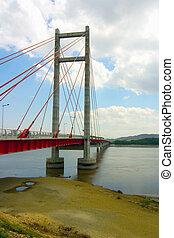 Suspension Bridge - A suspension bridge in Costa Rica built...
