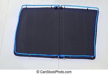 Neon Blackboard - Blackboard with blue neon frame.