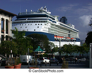 Cruise Ship in Port - Cruise Ship in Puerto Rico