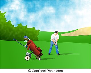 Golfer - ready steady....