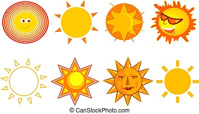 Suns - collection of different sun designs