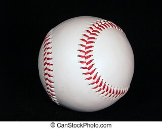 Baseball - A baseball on a black background