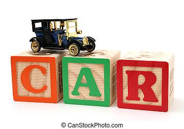 Car Letter Blocks
