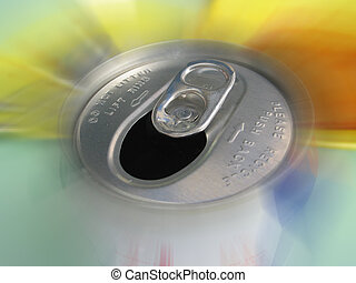 Computer Enhanced Photo - Abstract View of Softdrink Can