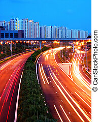 Evening Shot of Expressway, Singapore