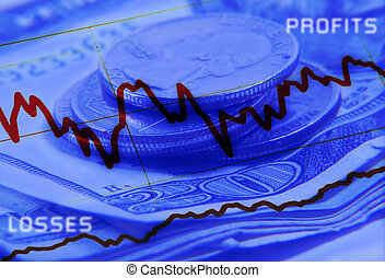 Profit and Losses - Abstract Background For Financial...