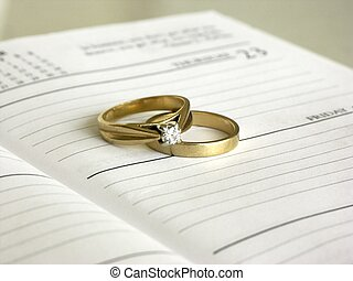 setting a date - rings on a date book ,shallow dof