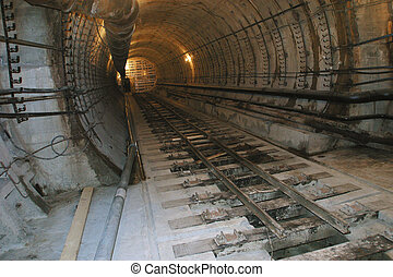 Railway tunne on the erosion section - Railway tunnel on the...