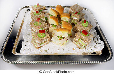 Sandwiches 3 - Sandwiches on a silver tray