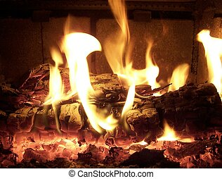Warm Cosy Fire - Nice warm fire to cuddle up